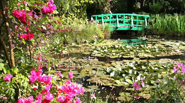 Monet's bridge, Giverny, France