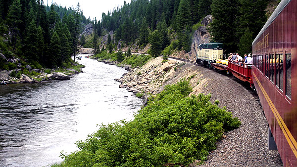 Thunder Mountain railroad, Payette River, Idaho:  Strictly copyrighted John Baker Photographer LLC, JayBee Stock.com