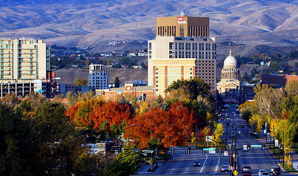 Capitol Boulevard, Boise, Idaho:  Strictly copyrighted John T. Baker Photographer LLC, JayBee Stock.com