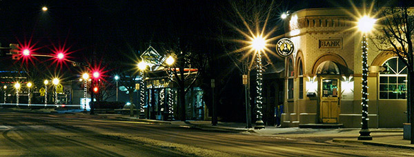 Downtown Eagle, Idaho in winter - Strictly copyrighted John T. Baker Photographer LLC, JayBee Stock.com
