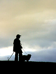Farmer and sheepdog, Yorkshire Dales, England - Strictly copyrighted John T. Baker Photographer LLC, JayBee Stock.com