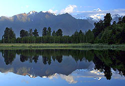 Lake Matheson and Mount Coook, New Zealand - Strictly copyrighted John T. Baker Photographer LLC, JayBee Stock.com