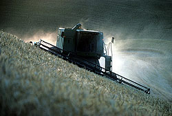 Harvesting combine, the Palouse, Washington State - Strictly copyrighted John T. Baker Photographer LLC, JayBee Stock.com