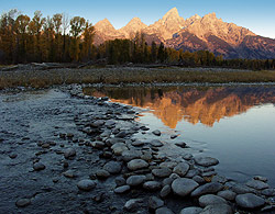 Snake River sunrise, Grand Teton NP, Wyoming - Strictly copyrighted John T. Baker Photographer LLC, JayBee Stock.com