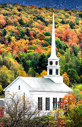 Church, Stowe, Vermont, New England