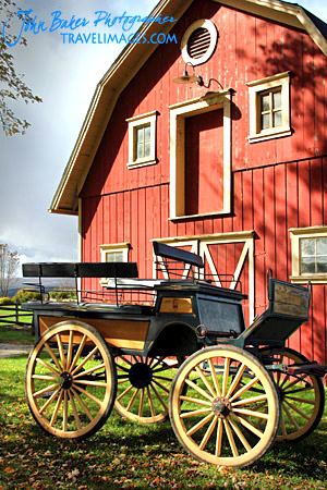 Wagon and barn, Darling Hill Road, Vermont, New England